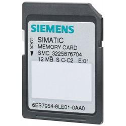 6ES7954-8LE02-0AA0 SIMATIC S7, MEMORY CARD FOR S7-1X00 CPU/SINAMICS, 3,3 V FLASH, 12 MBYTE
